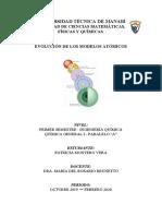 Evolución de los modelos atómicos
