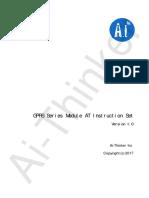 b000at00a0 Gprs Series Module at Instruction Set v1.0