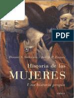 L 10022-Anderson, Bounnie S. y Zinsser, Judith P._historia de Las Mujeres. Una Historia Propia