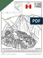 Color World Macchu Picchu