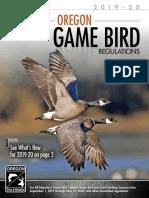 Oregon Bird Hunting 2019