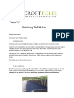 Croft Poles Retaining Wall Guide