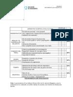 Atributos Sujetos a Evaluacion