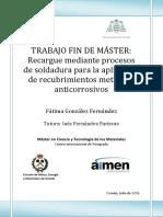 RECARGUE MEDIANTE PROCESO DE SOLDADURAS