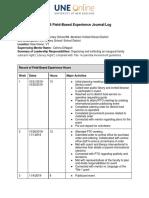 strada edu 706 field based experience journal log