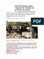 Justiça Manda Flamengo Pagar Pensão Às Famílias de Vítimas de Incêndio No Ninho Do Urubu