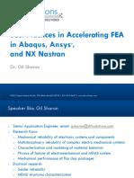 accelerating fea