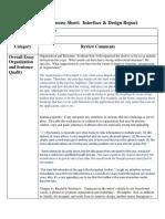 peer review response sheets