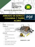 Informe de Construcciones de Columna y Parrilla