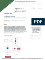 Miniaturized Chipless RFID Tag Using Multiple Microstrip Resonators - Semantic Scholar
