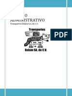 Estudio Administrativo de Una Empresa de Transporte