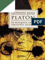 PLATÓN EN BÚSQUEDA DE LA SABIDURÍA SECRETA, Giovanni Reale.pdf