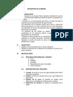 informe de practica de extracion de almiedon