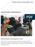 Lose Excuses _ Find Results _ Corey Calliet