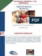 PPT Diseño de Mezclas Método ACI 20NOV19
