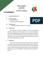 Araw Ng Mailag Activity Design