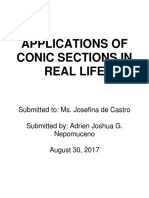 Applications of Conic Sections in Real Life