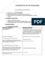 Detailed Lesson Plan in English (CASES OF PRONOUNS)
