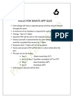 Rules for Whats App Quiz