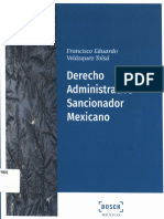 Derecho Administrativo Sancionador Mexicano by Francisco Eduardo Velázquez Tolsá