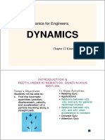 Mechanics for Engineers DYNAMICS Chapter