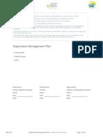 Supervision Management Plan