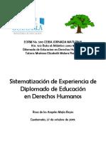 Sistematizacion de educacion derechos humanos