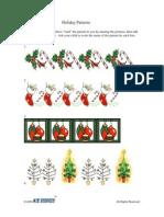 Activity   PreK-K   Holiday Patterns