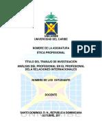 Análisis Del Profesional en El Profesional Dela Relaciones Internacionales