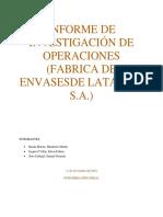 Investigacion de Operaciones AVANCE