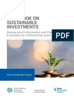 Handbook on Sustainable Investments