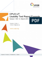 CPUX UT en Usability Test Report Example
