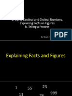 CHAPTER XI - XIII Telling a Process-Using Cardinal and Ordinal Number- Explaining Facts and Figure