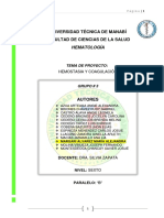 Proyecto Hemostasia y Coagulacion