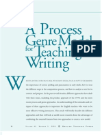 A Process Genre Model for Teaching Writing