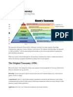 Blooms Taxonomy and the 4 C's