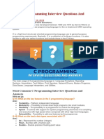 Top 40 C Programming Interview Questions and Answers