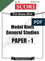upsc GS solve paper 2016