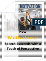 How Motivational Speech Succeeds – With a Touch of Perspective
