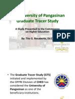University of Pangasinan Graduate Tracer Study