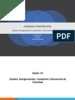 Sesion 15 Quiebra de Empresas, Reorganizacion de Empresas Liquidacion y Bancarrota