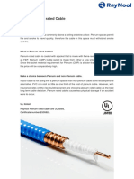 Plenum Rated Cable