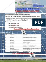 Photovoltaik Komplettanlagen mit und ohne Speicher // Photovoltaic complete systems with and without storage