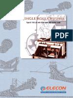 Elecon Single Roll Crusher Catalogue