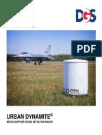 Urban Dynamite Drone Detection Radar Micro-Doppler Brochure 2019