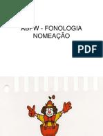 Abfw - Fonologia Nomeação Figuras