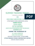Suyash Training Report