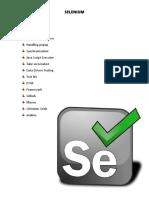 Selenium Notes