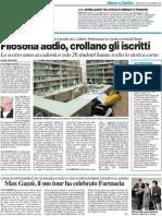 Filosofia addio, crollano gli iscritti / Conferenze per ricordare Carlo Bo  / Max Gazzè, il suo tour ha celebrato Farmacia - Il Resto del Carlino del 24 novembre 2010