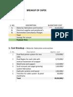 Cost Breakup- Mundra Automation